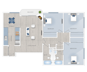 Three bedroom Apartments for Rent in Burbank
